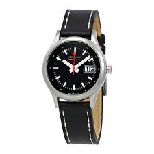 Mondaine Night Vision Black Leather Ladies Watch A669.30334.14SBB