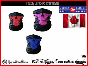 Fashion Unisex Men Skull Head Face Mask Wear Tube Bandana Biker Motorcycle Scarf