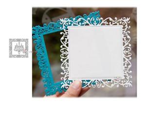 Lace Square Frame Metal Cutting Dies Scrapbooking Album Embossing Card Craft DIY