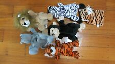 HAND PUPPETS ZOO ANIMALS   X 6