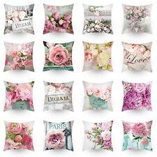 """18""""x18"""" Rose flower Pillow Covers Home Sofa Decor Throw Pillowcase Cushion Cover"""