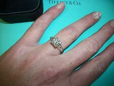 Huge Tiffany & Co. Platinum Diamond VVS1 F Solitaire Engagement Ring $64,900