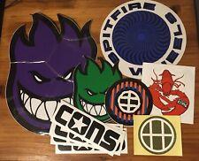 Bulk Large Authentic Skateboard Stickers Converse HUF Spitfire Purple Green