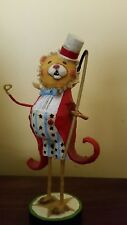 Circus Lion Rumba the Ringleader Figurine Ring Master by Lori Mitchell