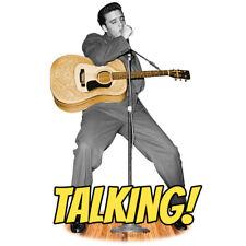 ELVIS PRESLEY Talking CARDBOARD CUTOUT Standup Standee Acoustic Guitar F/S