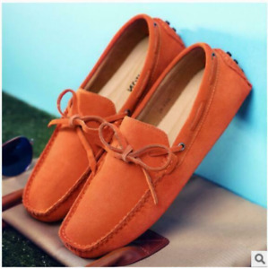 Mens Casual Moccasins Loafers Slip On Comfort Suede Boats Walking Shoes Outdoors