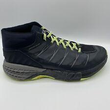 Men's Hoka One  Speedgoat MID WP size 14 Black/Steel Grey 1093760-BSLG Worn Once