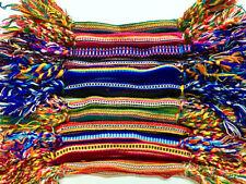 #3502 Hand Made Peru Artisan Woven Cotton Friendship Bracelets 50 Lot Assorted