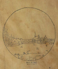 DESSIN du XVIIIe, signé D.P. et daté 1793. Wietmarschen.