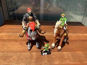 Link, Epona, Ganondorf, Ocarina of Time Figure Bundle, RARE