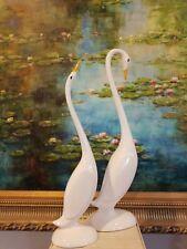 Vintage Porcelain 2 big swan Figures