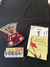 New listing Japanese Calligraphy Set With Inks, Book, And Paper