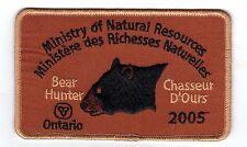 2005 Ontario MNR Bear Hunter Patch-Michigan DNR Hirsch-Elch-Elche-CREST - EMBLEM-Fisch