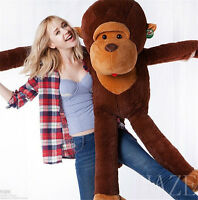 2020 Giant Huge Large Stuffed Brown Monkey Bear Animal Soft Plush Doll Toy Newly