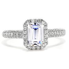 GIA Certified Emerald Cut Diamond 2.20 Carat Engagement Ring Platinum
