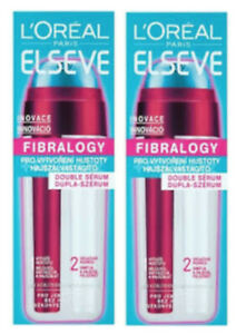 L'Oreal ELVIVE ELSEVE Fibrology LEAVE IN Double THICKENING SERUM 2 x 30ml each