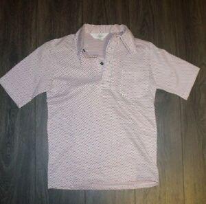 1970s Taupe Polo Shirt  70s NOS Four Button Polo Knitwear Shirt Casual Unworn  Men/'s Medium