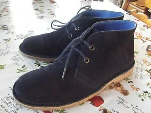 """SEA SALT,""""DELUXE""""LOVELY SOFT NAVY BLUE LEATHER,LACE UP ANKLE BOOTS - SIZE UK 6"""