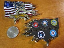 Live Free or Die Patriot Flag K-9 United States Military Forces Challenge Coin