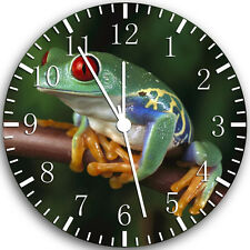 """Cute Green Frog wall Clock 10"""" will be nice Gift and Room wall Decor W117"""