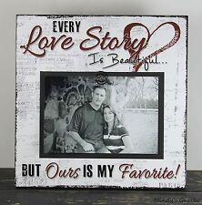 RUSTIC HANDMADE WOOD FAMILY 4 X 6 PICTURE FRAME PHOTO SIGN HOME DECOR 1015