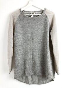 White Stuff Womens Grey Mohair Blend Long Sleeve Knit Jumper Size 10