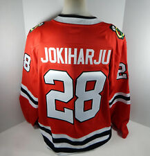 New Men Chicago Blackhawks Henri Jokiharju #28 Fanatics Breakaway Red Jersey 2XL