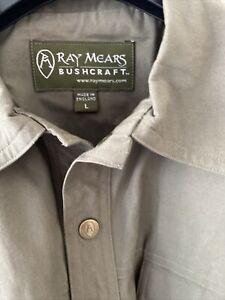 ray mears bushcraft mens green shirt