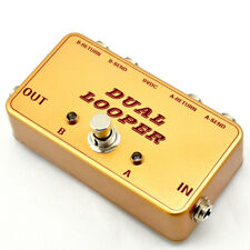2019 Premium Dual Path Ab Line Selection Pedal, True Bypass Gold Free Shipping