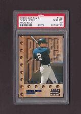 1998 Leaf Rookies and Stars #152 DEREK JETER True Blue Yankees PSA 10 Pop 3