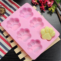 Paw Print Shape Silicone Mould Chocolate Fondant Mold ice Paw Patrol decorating