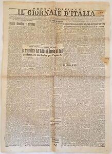 IL GIORNALE D'ITALIA 5 FEBBRAIO 1931 BALBO MICHELE BIANCHI CHIARAVALLE MOSAMPOLO