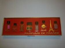 PARFUMS DE FRANCE MINI PERFUME BOXED SET 7 PERFUMES TREVE AIR DE FRANCE MADISHA