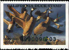 CALIFORNIA #30 2000 STATE DUCK CANADA GOOSE/MALLARDS by Robert Steiner
