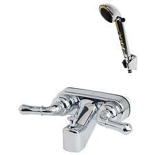 RV/Motorhome Tub Shower Faucet Valve Diverter w/Hand Held Shower Chrome Finish