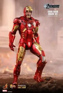 Iron Man Mark 7 Diecast MKIIV Hot Toys MK7 Marvel 1/6 FigureStark MMS500 D27 UK