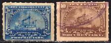 U.S.A. Etats-Unis - Timbre fiscal - Inter revenue 1898 - 2 timbres oblitérés