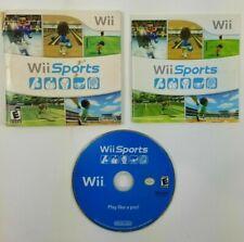 Wii Sports (Nintendo Wii, WiiU) GAME COMPLETE with MANUAL TENNIS GOLF BASEBALL