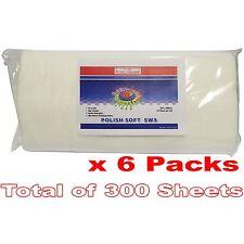 Pro Range SW3 x 6 Polish Soft Polishing Cloths 300 Sheets 305x308mm Rolled