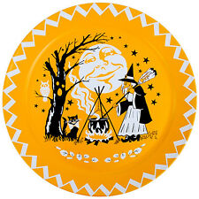 Halloween Witch Serving Tray Vintage Style Clipart Tin Party Food Platter 18 in.
