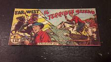 """Il Piccolo Cow Boy anno III #6 """"Il Terribile Assedio"""" striscia 1949"""