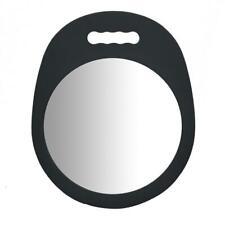 Vain Round Foam Barber Mirror, Lightweight Double Handle Salon Mirror