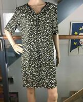 Whistles Silk Dress Size 12 40 Short Sleeved Olive Green