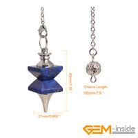 45x21mm Merkaba Natural Dowsing Chakra Pendulum for Divination Reiki Pendant