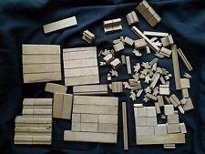 Ancien jeu de construction en bois vintage jouet jeux chalet maison
