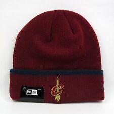 New Era Para hombre NBA Cleveland Cavaliers colores del equipo básico de Invierno Tejido Beanie Hat
