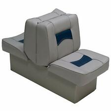 Boat Seats Gray & Blue Classic Back to Back Reclining Lounger Boating Seat New