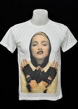 White crew t-shirt Madonna hood rock cotton CL tee size M