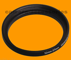 52mm to 57mm 52-57 Stepping Step Up Filter Ring Adapter 52-57mm 52mm-57mm (UK)