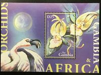 A102 GAMBIA 2002 Flowers, Orchids Souvenir Sheet S/S Mint NH